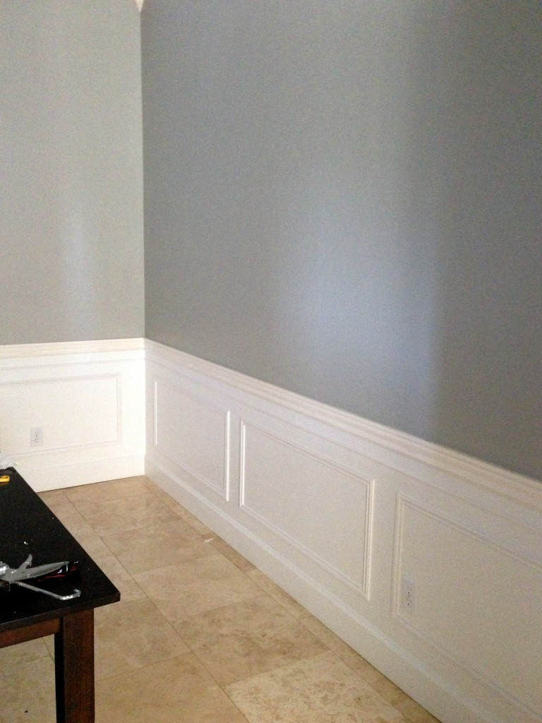 Dining Room Paint and Picture Frame Molding