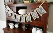 burlap and chalkboard Thanksgiving banner