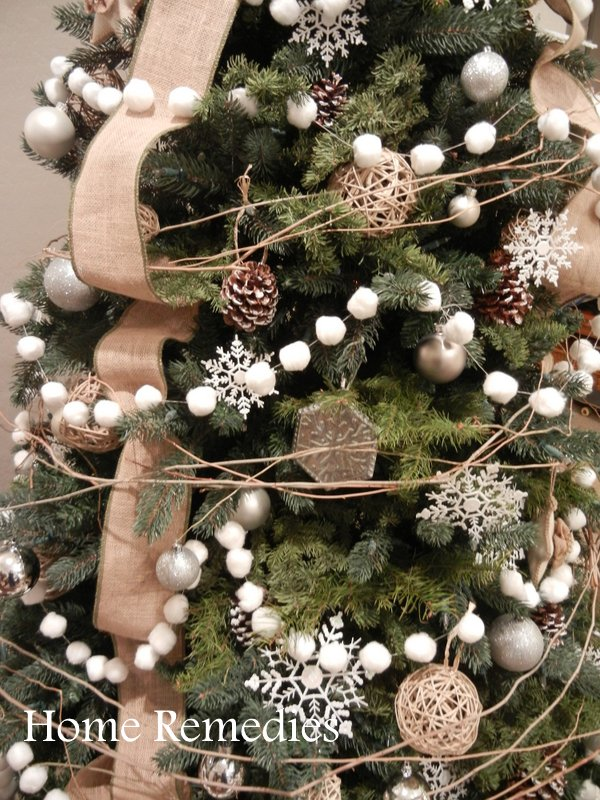 Rustic Christmas Wreath Diy.Diy Cotton Ball Garland