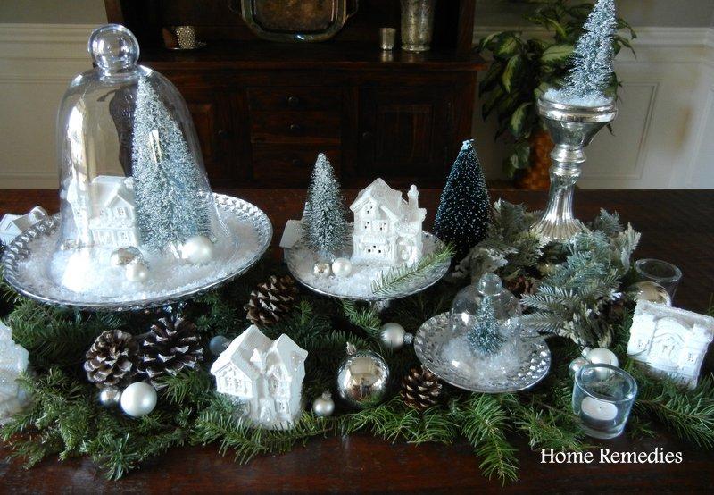 Holiday Village Table Runner at HomeRemediesRx.com