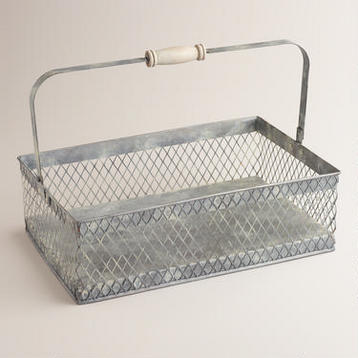 vintage laundry room storage caddy organizer
