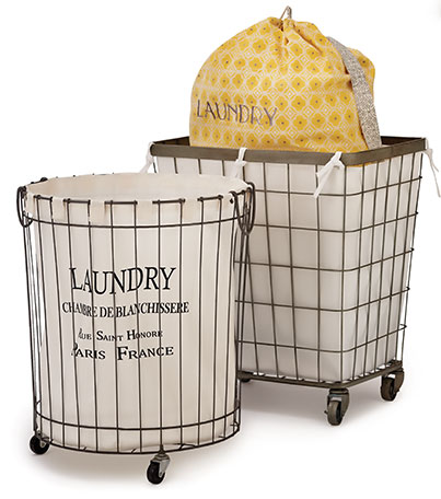 laundry room baskets carts bags tubs