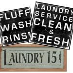 vintage laundry room subway art decor signs