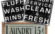 vintage laundry room subway art decor signs