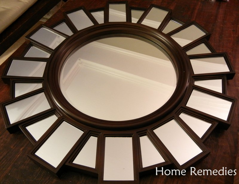 sunburst mirror metallic paint makeover