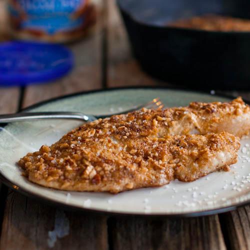 Almond crusted talapia