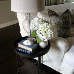 End Table Aged Metal Makeover How To