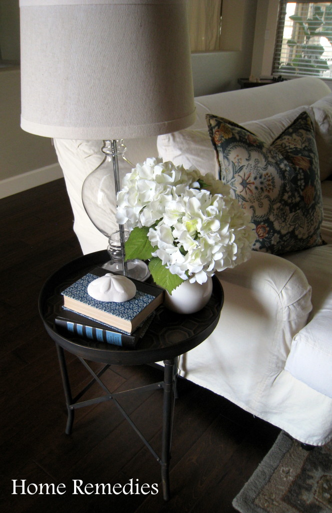 How to age metal industrial end table