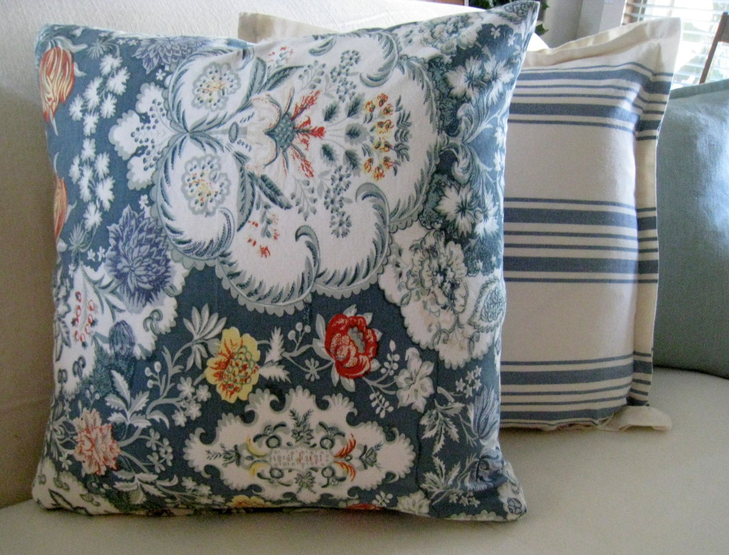 Pillow covers made from napkins