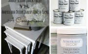 Annie Sloan Chalk Paint Vs. Americana Decor Chalky Finish Paint