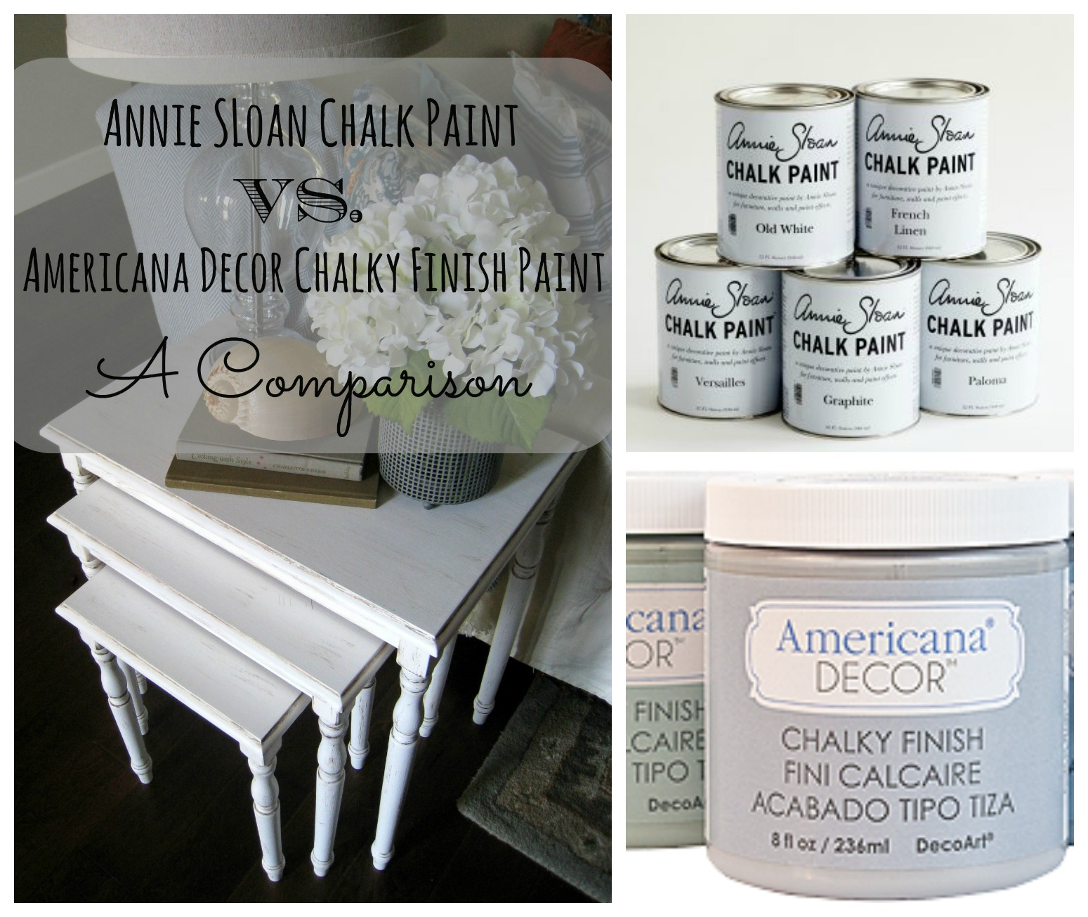 Annie Sloan Chalk Paint Vs Americana Decor Chalky Finish