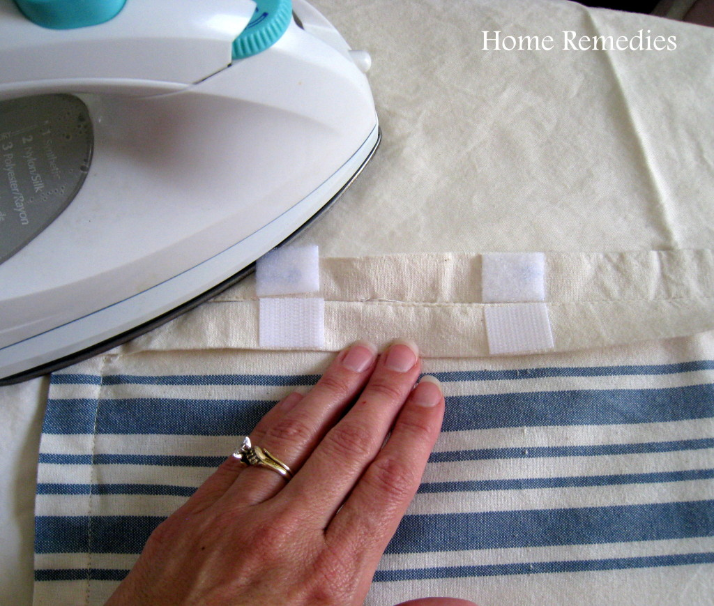 How To Make Removable Throw Pillow Covers With Velcro Closure : How to make removable pillow covers out of cloth napkins