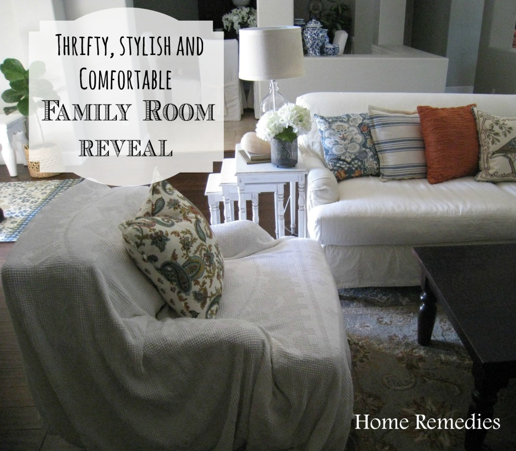 Family Room Reveal from Home Remedies