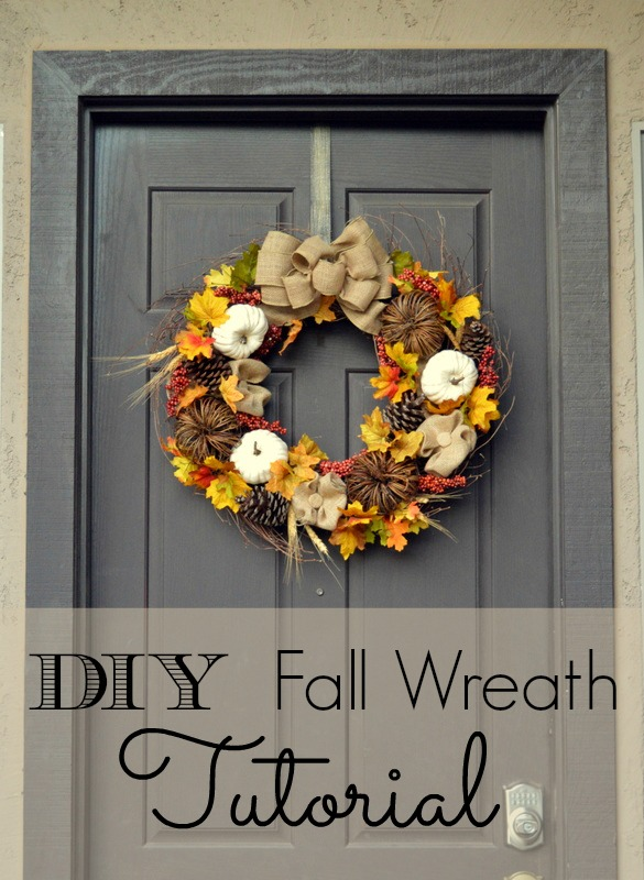 Make this easy DIY Fall Wreath - From Home Remedies Rx.com
