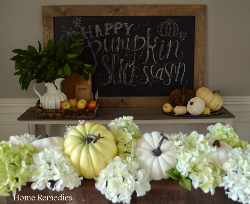 Rustic and Neutral Fall Dining Room