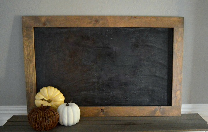 How To Make A Rustic Framed Chalkboard