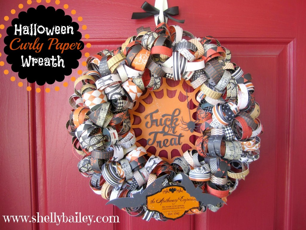 Halloween Curly Paper Wreath