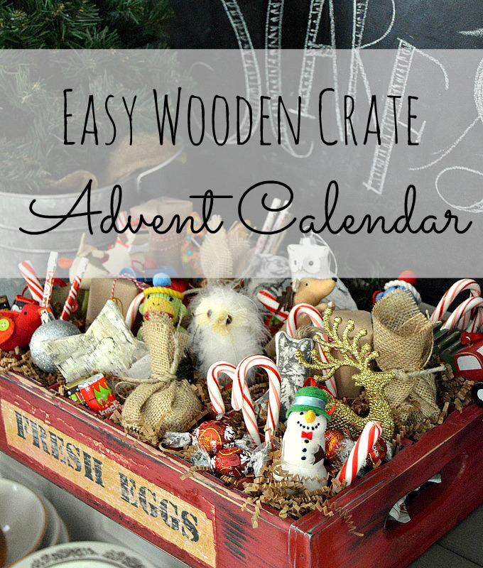 Easy Woodent Crate Advent Calendar