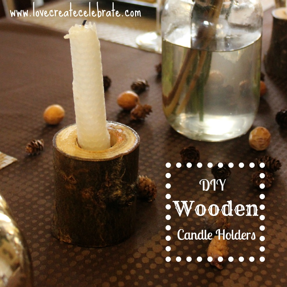 DIY Wooden Candleholders