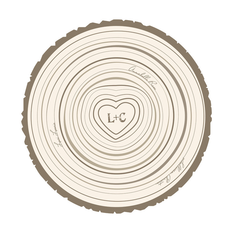 Family Tree Rings by Jessie Steury | Minted