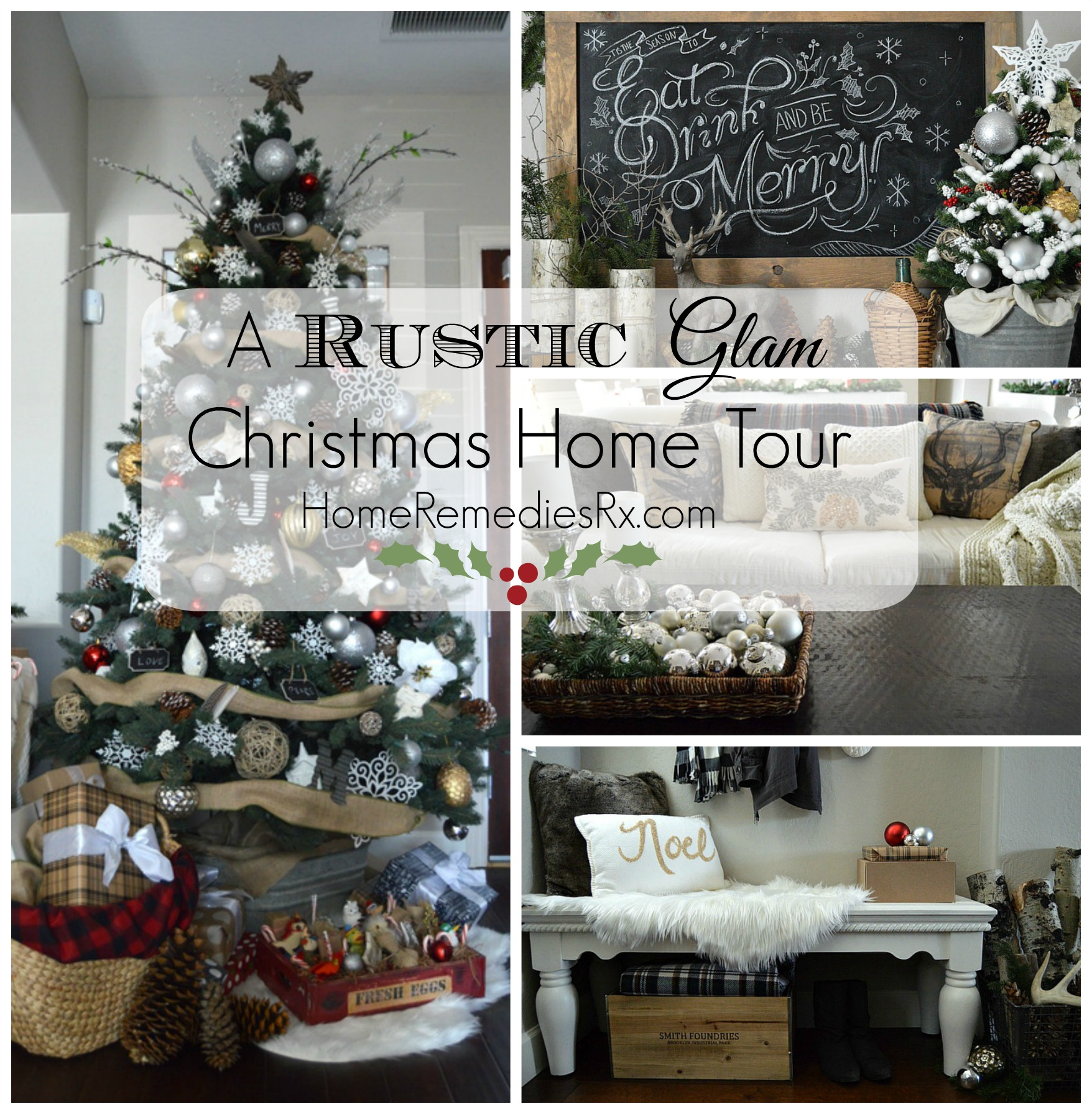 Holiday Home Tour Collage