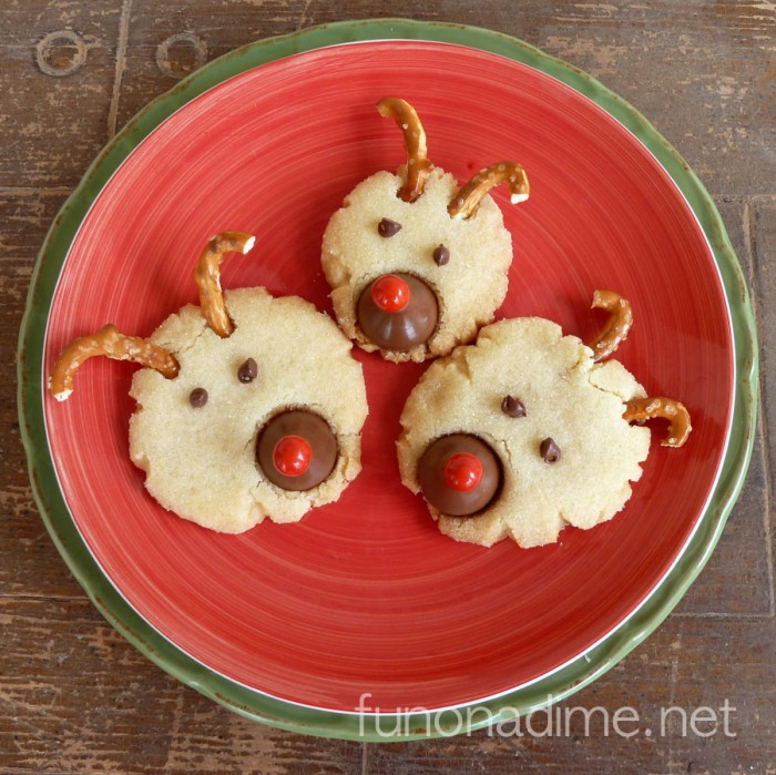 Reindeer Christmas Sugar Cookies | Fun On A Dime