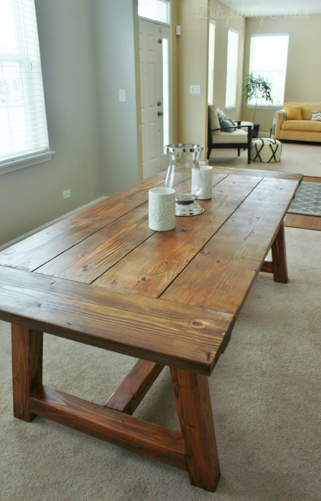 Farmhouse Dining Table from Delightfully Noted