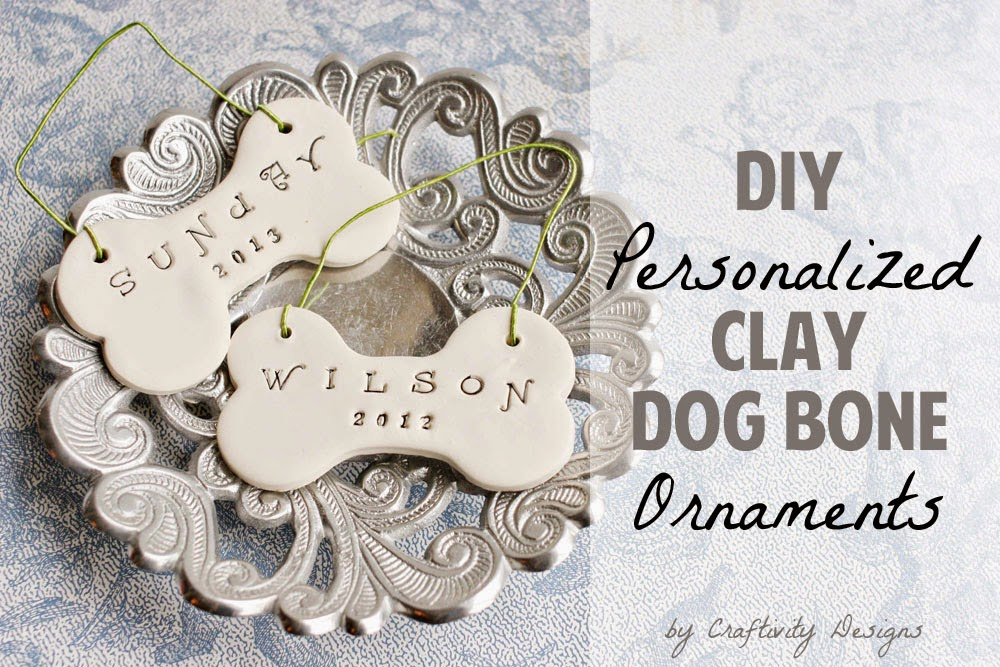 Clay Dog Bone Ornaments\\DIY Gift from Craftivity Designs