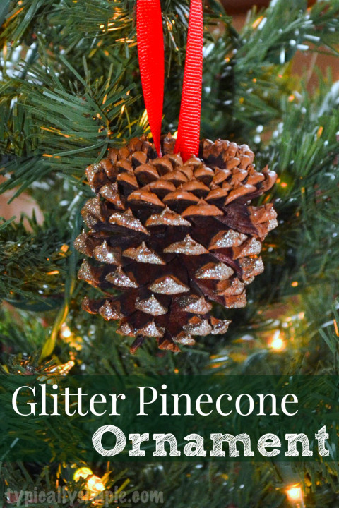 Glitter Pinecone Ornament