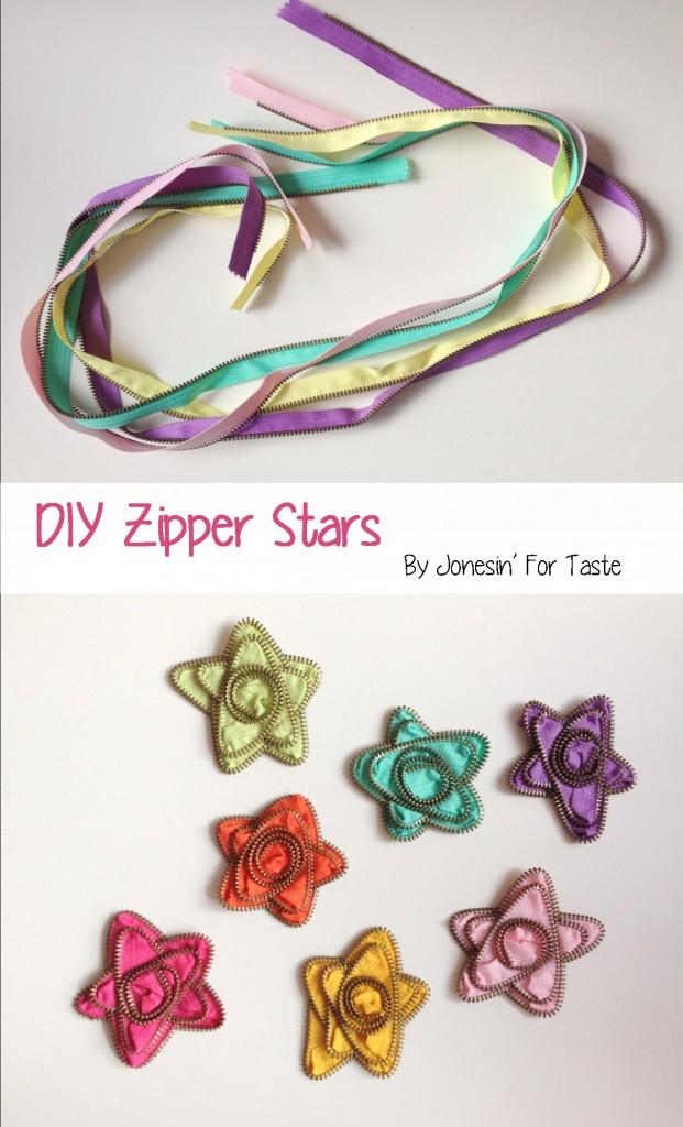 DIY Zipper Stars from Jonesin' For Taste