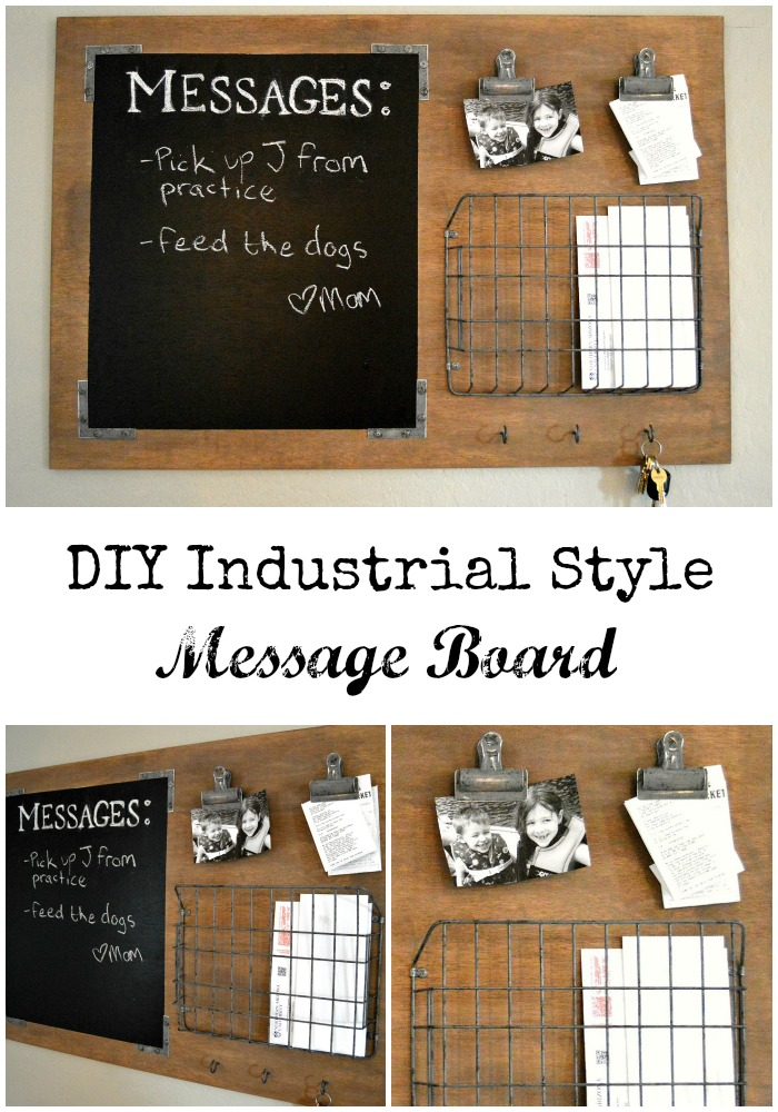 Diy industrial style message board home remedies diy industrial style message board home remedies solutioingenieria Image collections