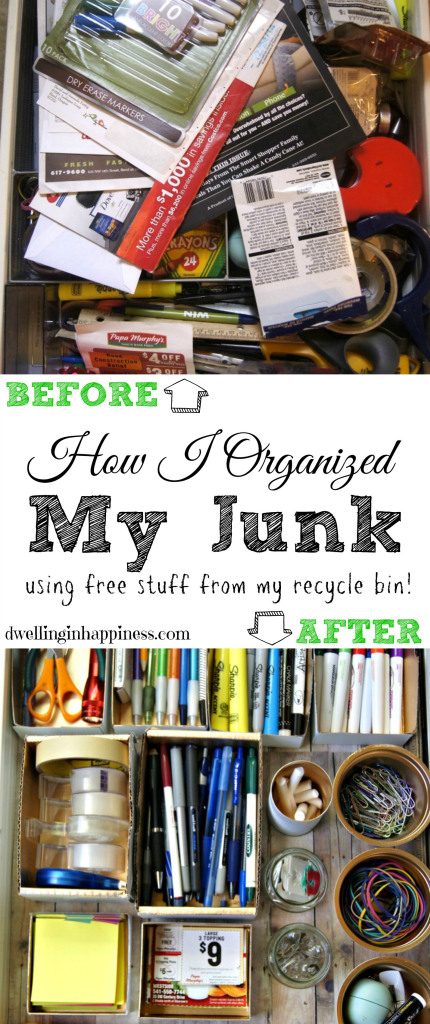 How I Organized My Junk | Dwelling In Happiness