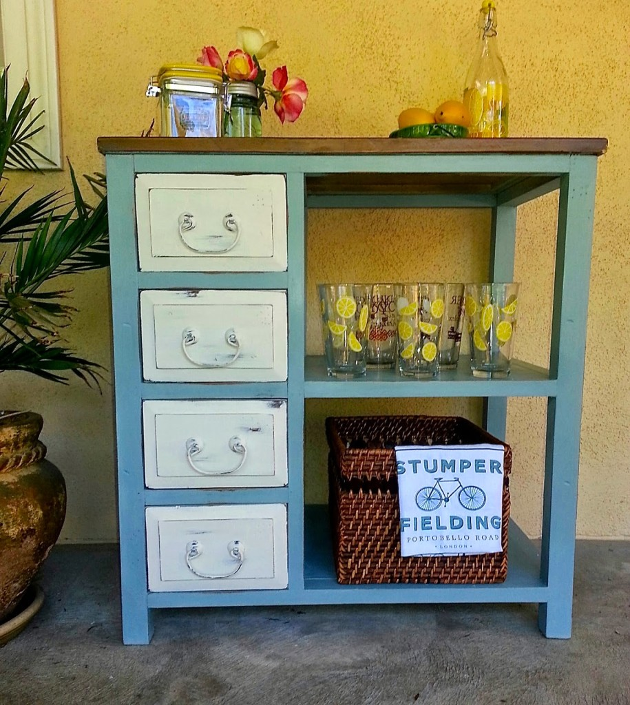 Repurposed Desk Into Beverage Station | Altered Artworks
