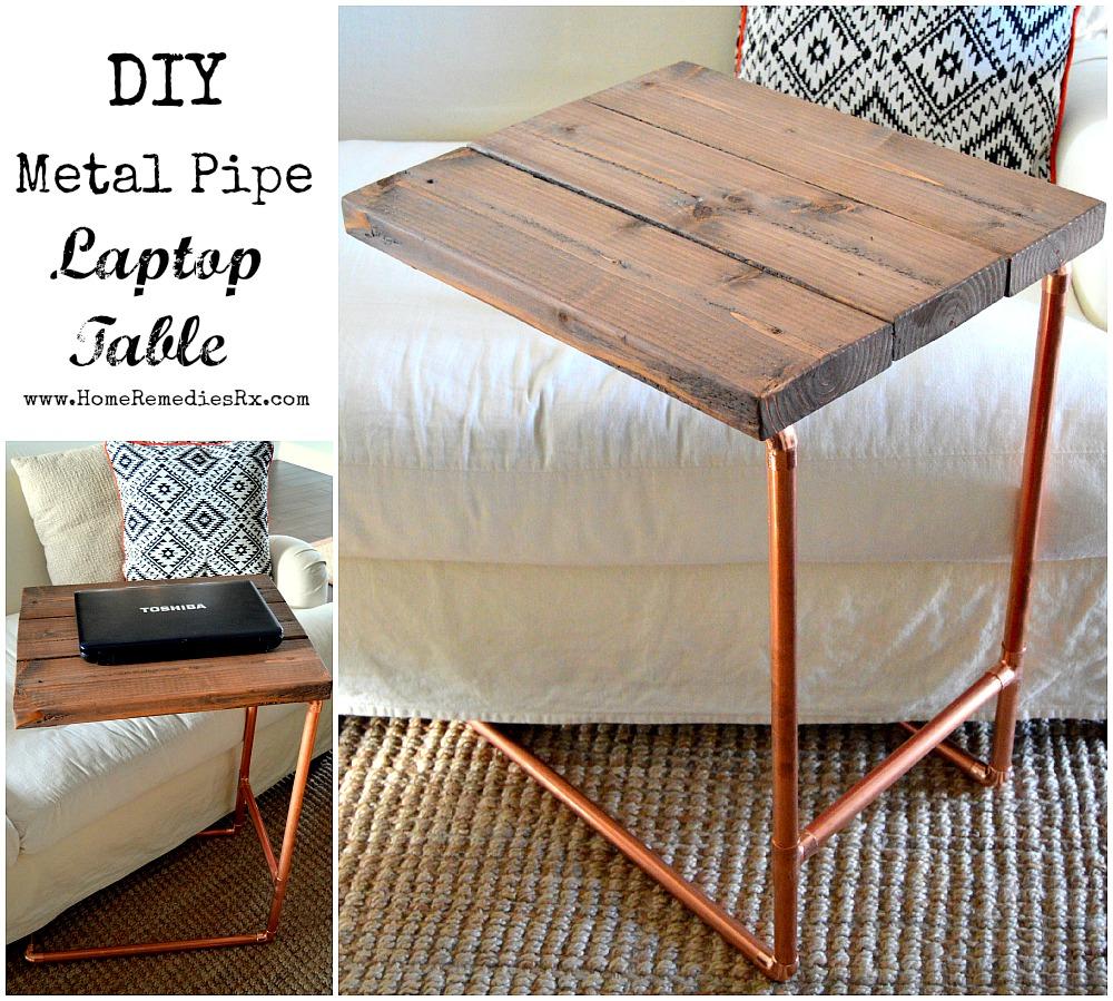 DIY Metal Pipe Laptop Table {Home Depot Challenge}