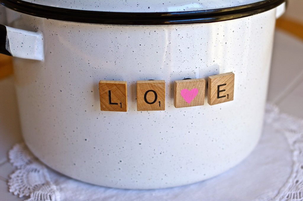 Love Scrabble Letter Magnets from Sew Sweet Vintage