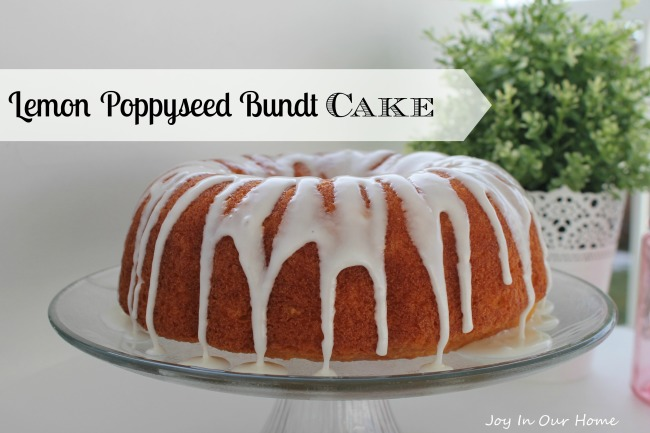Lemon Poppyseed Bundt Cake | Joy In Our Home