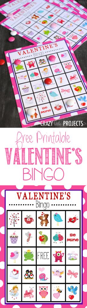 Free printable valentines bingo game