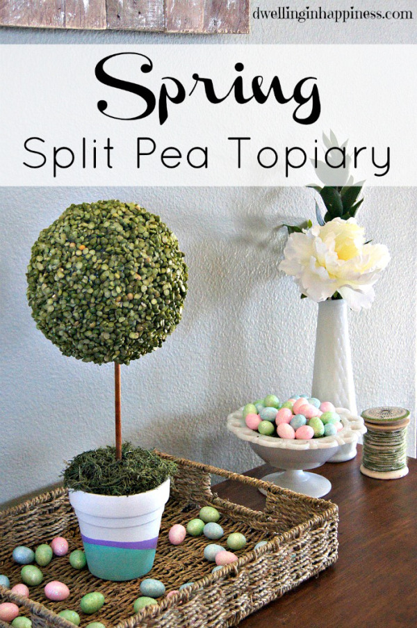 Spring Split Pea Topiary | Dwelling In Happiness