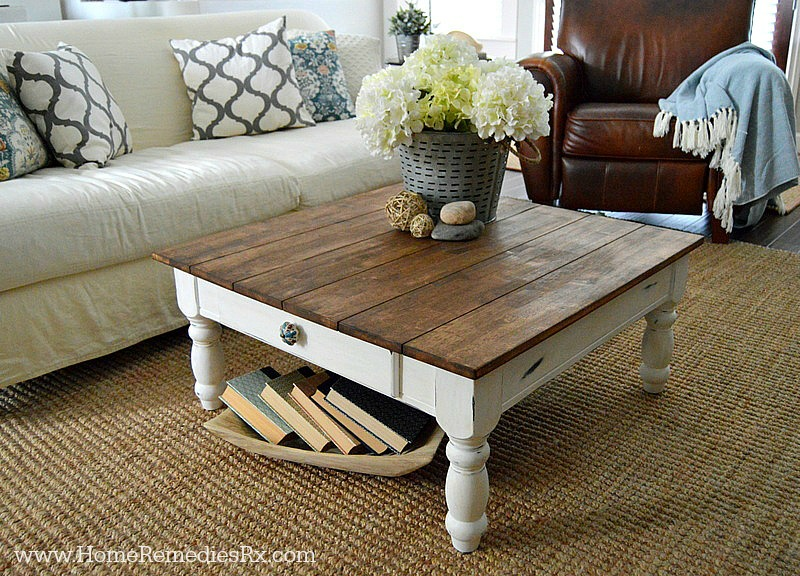Diy Faux Planked Tabletop