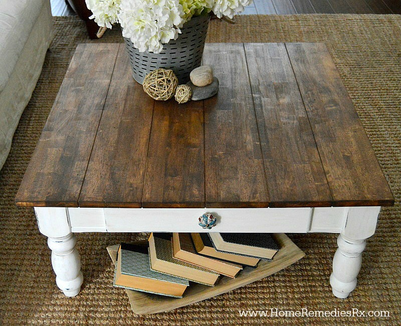 DIY Faux Planked Tabletop | HomeRemediesRx.com