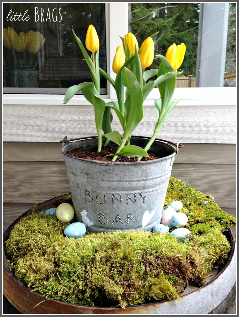 A Touch Of Easter On The Back Deck | Little Brags