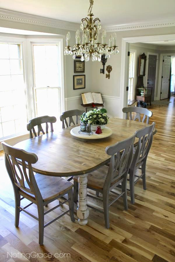 Farmhouse Style Table Makeover | Noting Grace