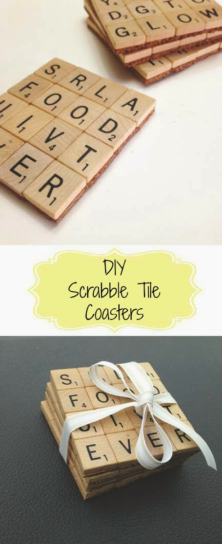 DIY Scrabble Tile Coasters | Home Crafts By Ali