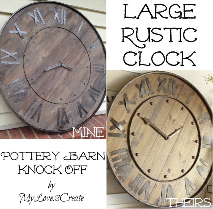Large Rustic Clock - Pottery Barn Knockoff | My Love 2 Create