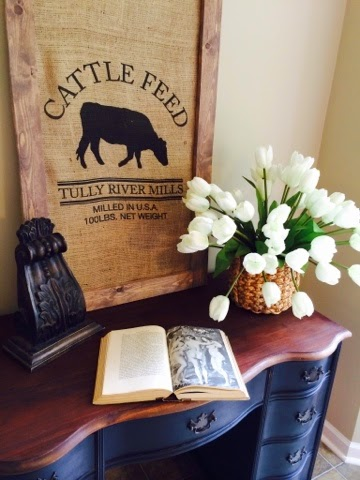 Framed Feedsack with Barnwood Finish | A Junkchick Life