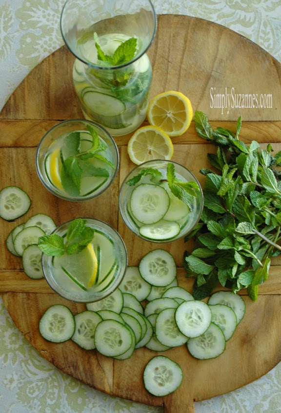 Cucumber Mint Lemonade | Simply Suzannes
