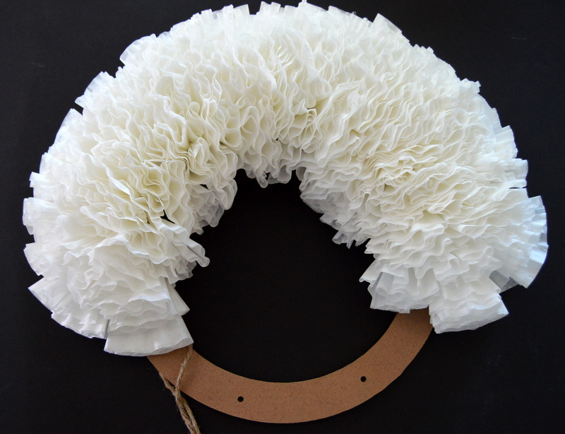 DIY Coffee Filter Wreath