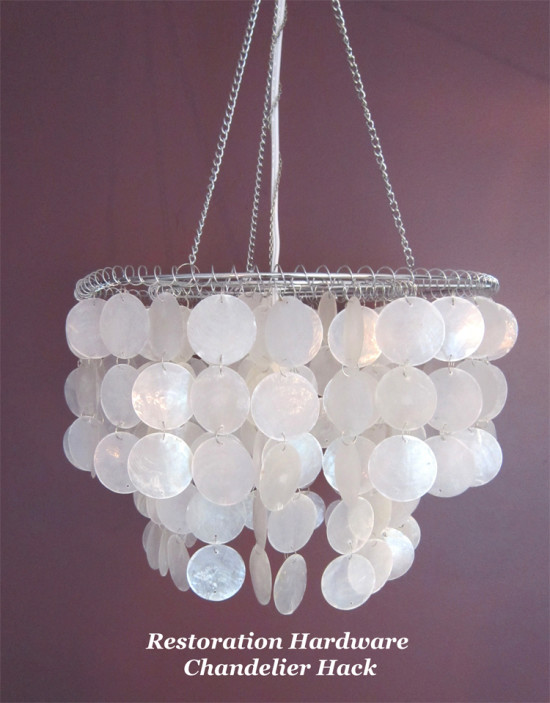 Restoration Hardware Chandelier Hack | The Honeycomb Home