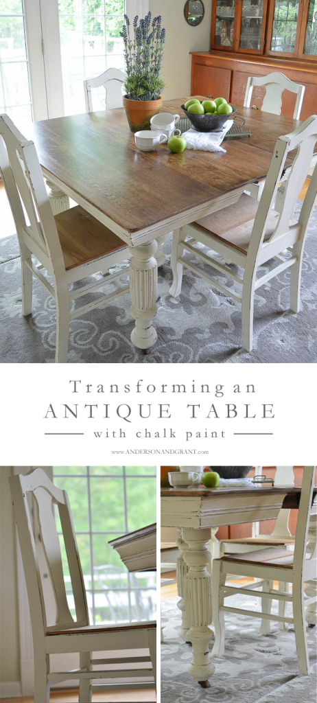Transforming an antique table with chalk paint | Anderson Grant