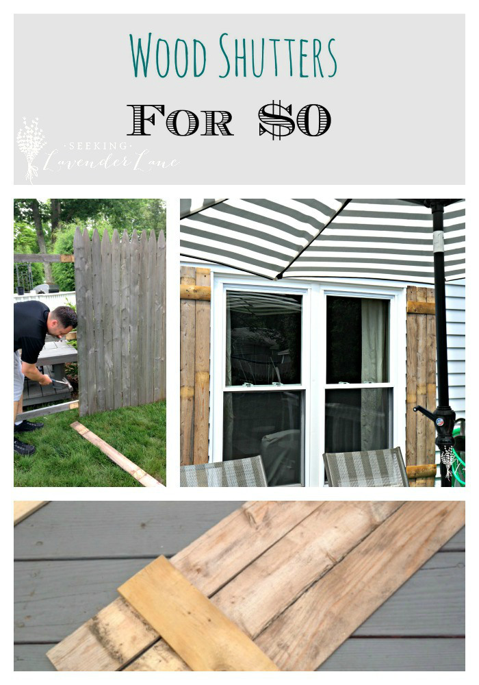 DIY Wood Shutters for $0 | Seeking Lavender Lane